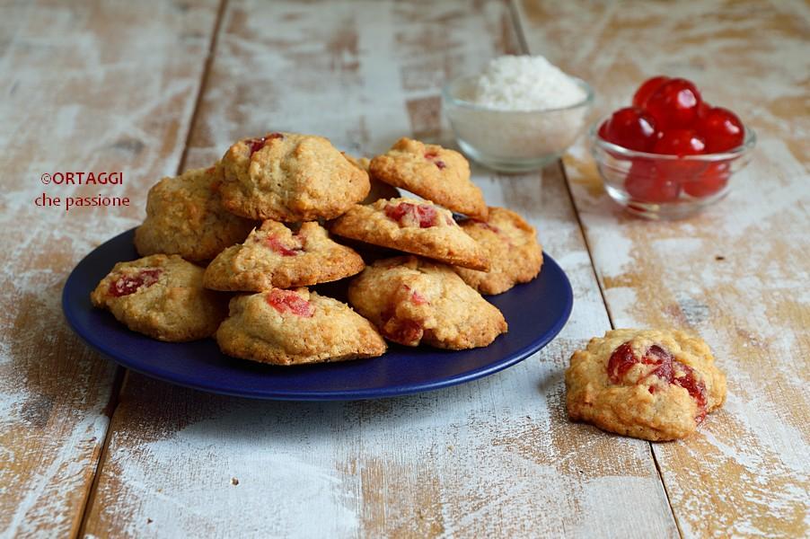 Biscotti cocco e ciliege candite DOCLETTI sfiziosi ORTAGGI che passione