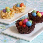 Nidi di cioccolato con ovetti – dolci pasquali