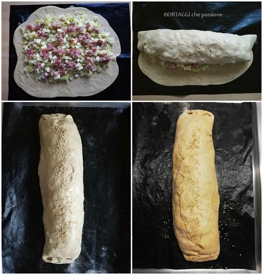Strudel salato veloce con verza RICETTA foto passo passo