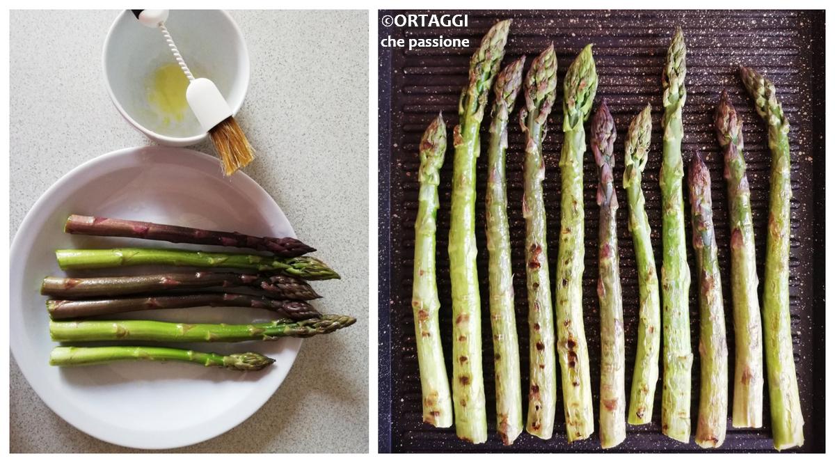 asparagi grigliati - foto ricetta passo passo