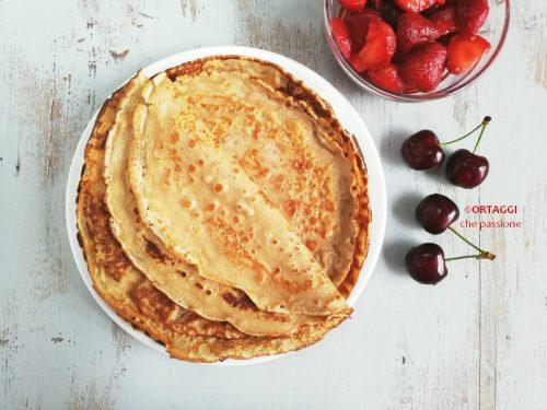 Crepes con farina di castagne – senza glutine e zucchero