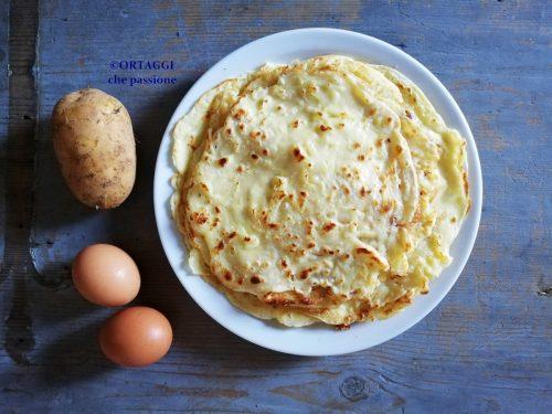 Crepes di patate senza latte SUPER