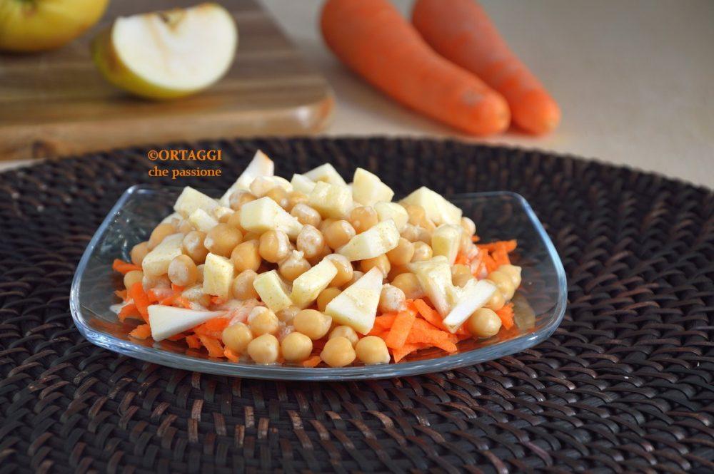 insalata di ceci e carote con mela ORTAGGI che passione by Sara Grissino