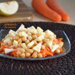 insalata di ceci e carote con mele