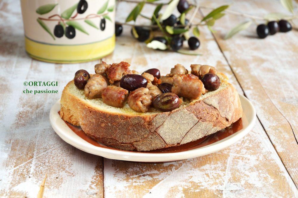 Olive fresche in padella con salsiccia ORTAGGI che passione by Sara Grissino