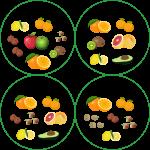 Frutta invernale  – agrumi e frutta a guscio