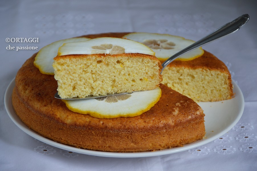 torta al cedro fresco frullato