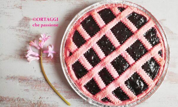 Pasta frolla rosa – CROSTATA colorata