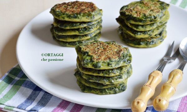 Crepes di spinaci – mini e light – SENZA latte