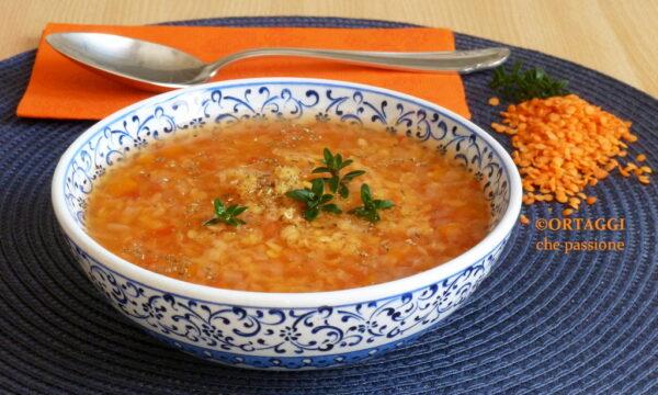 Zuppa di lenticchie rosse – minestra veloce