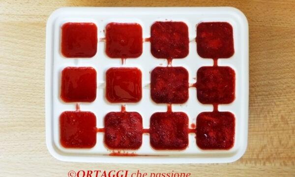 Ghiaccio di fragole, facile e fresco