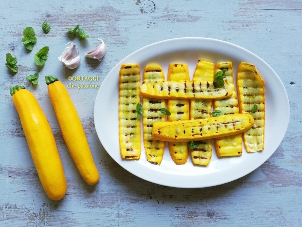 ricetta zucchine gialle grigliate