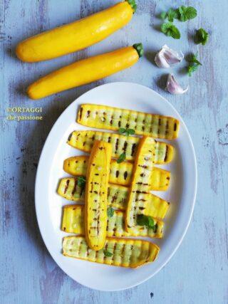 zucchine gialle grigliate ORTAGGI CHE PASSIONE