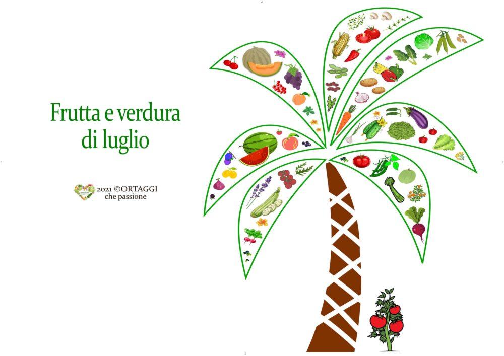 Orizzontale 7 LUGLIO frutta e verdura di stagione ORTAGGI CHE PASSIONE by Sara Grissino