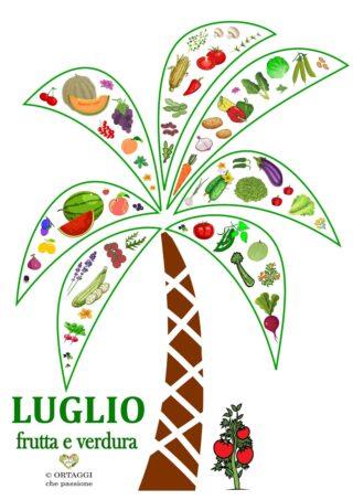Verticale 7 LUGLIO frutta e verdura di stagione ORTAGGI CHE PASSIONE by Sara Grissino