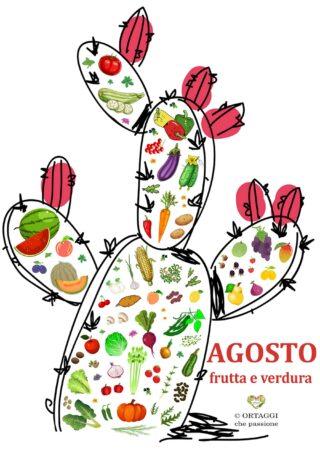 Verticale 8 AGOSTO frutta e verdura di stagione ORTAGGI CHE PASSIONE by Sara Grissino