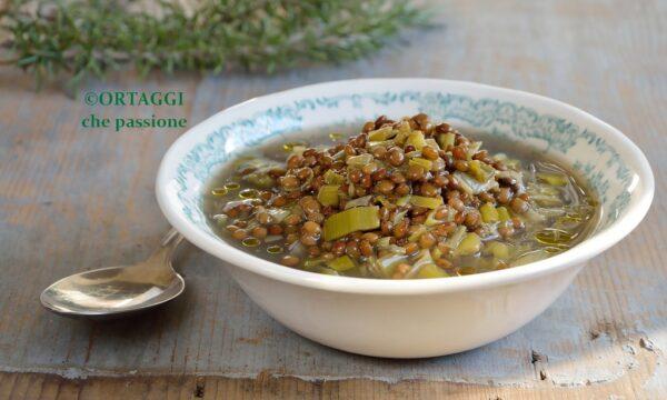 Zuppa porri e lenticchie LIGHT