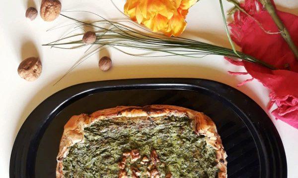 Torta salata di Ricotta, Spinaci e Noci