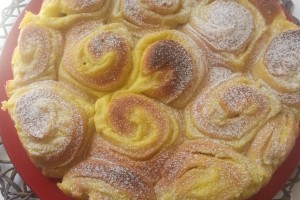 Torta di Rose con Crema Pasticcera al Limone con Lievito Madre