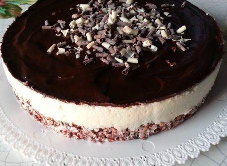 Cheesecake ai Due Cioccolati (senza glutine)