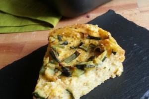 Finta Pizza di Polenta alle Zucchine