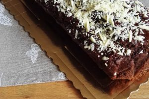 Plumcake all'Acqua Cacao e Cioccolato Bianco
