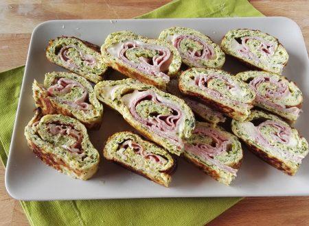 Rotolo di Frittata con Zucchine,Cotto e Stracchino