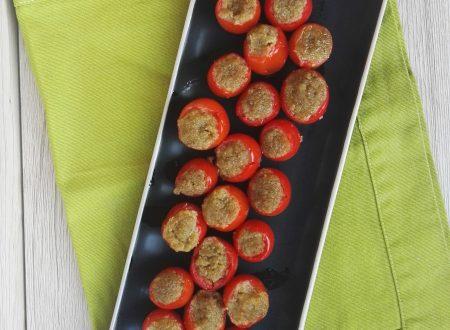 Pomodorini Ripieni al Patè Siciliano