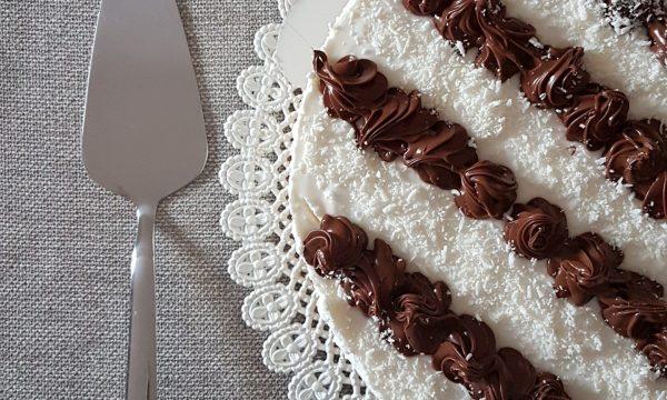 Torta fredda cocco e nutella