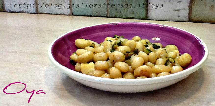 Gnocchi con zucchine orientali, ricetta primo piatto | Oya