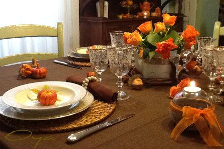 La tavola di halloween country chic oya - Decorazioni tavola halloween ...