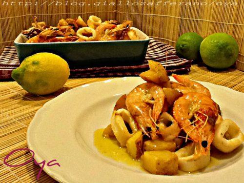 Misto di pesce al forno, ricetta ricca