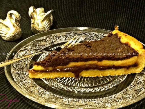 Crostata alla Nutella triplo cioccolato, ricetta dolce