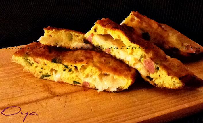 Frittata al forno zucchine e mortadella, ricetta semplice | Oya