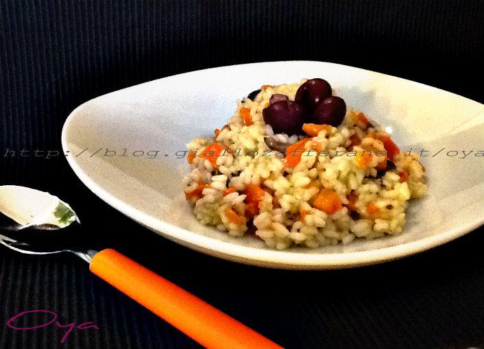 Risotto carote e olive nere, ricetta primo piatto | Oya