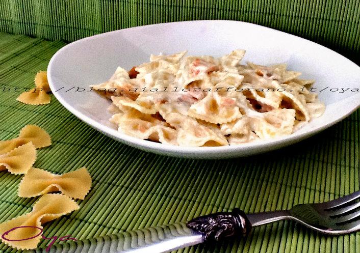Farfalle al salmone, ricetta raffinata semplice   Oya