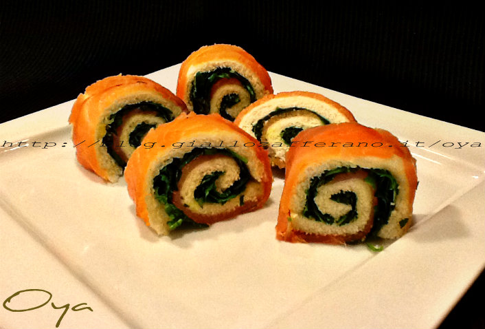 Rotolini salmone e rucola, ricetta semplice e saporita   Oya