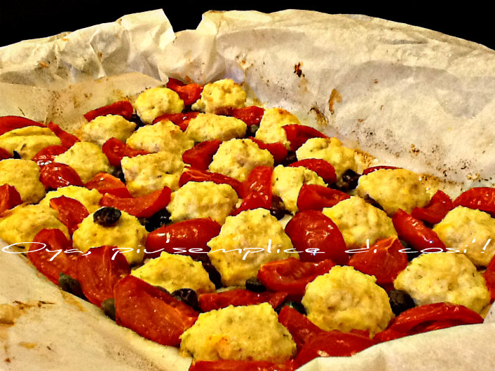 Polpette di ricotta al cartoccio con pomodorini, ricetta   Oya