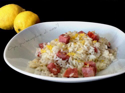 Risotto mortadella e limone, ricetta semplice e veloce