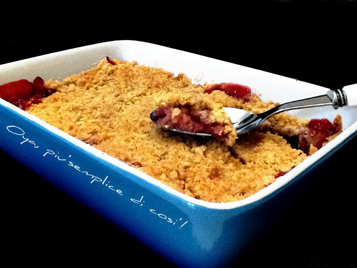 Sbriciolata fragole e mandorle, ricetta dolce | Oya
