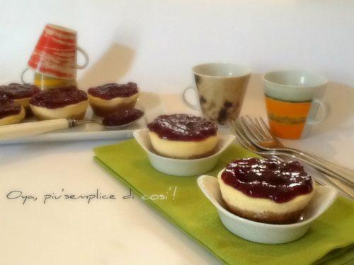 Mini cheesecake con marmellata, ricetta