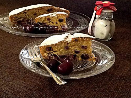 Torta morbida alle ciliegie, ricetta senza burro