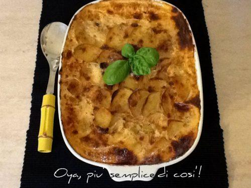 Tortino di patate al forno, ricetta gustosa