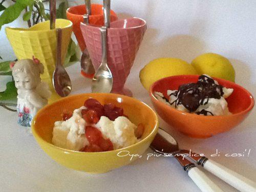 Gelato allo yogurt senza gelatiera e senza uova