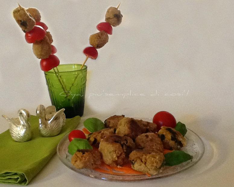Polpette di zucchine e porro, ricetta finger food | Oya