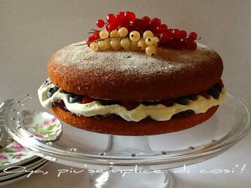 Victoria Sponge Cake, ricetta dolce alla frutta