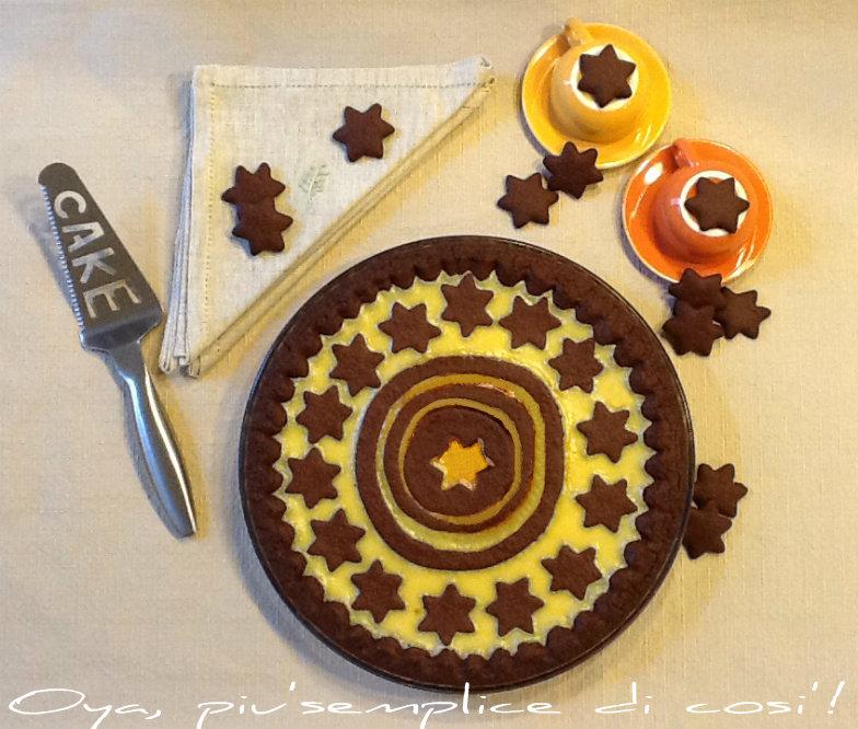 Crostata al cacao con crema al cioccolato bianco | Oya