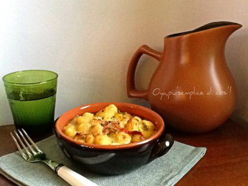 Gnocchi al forno con verdure, ricetta