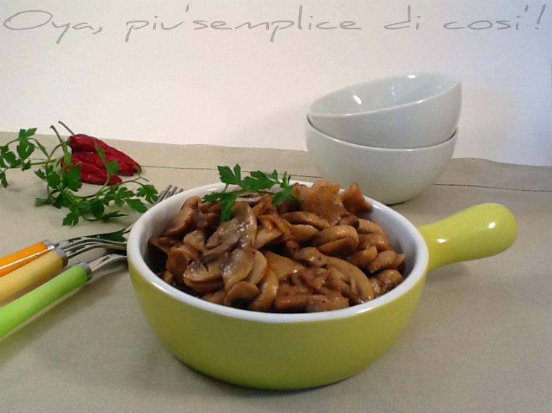 Funghi in padella, ricetta contorno | Oya