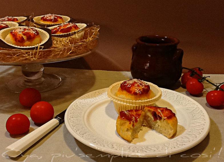 Muffin di pizza, ricetta rustica   Oya